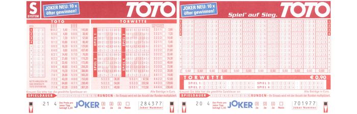 Fussball Toto 13er-Wette