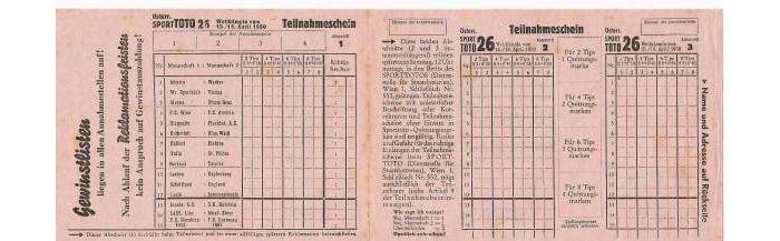 FuГџball Toto 13er-Wette